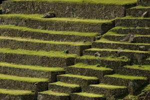 The Terraced Pre-Columbian Inca Ruins of Machu Picchu by Jim Richardson