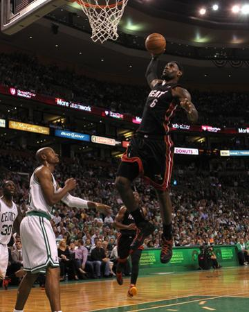 Boston, MA - June 03: LeBron James and Ray Allen by Jim Rogash