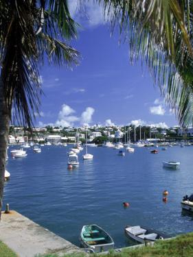 Boat in Harbor, Hamilton, Bermuda by Jim Schwabel
