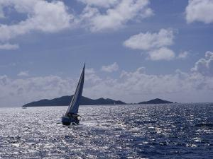 Sailboats, Coral Bay, St. John, Caribbean Sea by Jim Schwabel