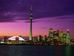 Toronto Skyline at Night, Canada by Jim Schwabel