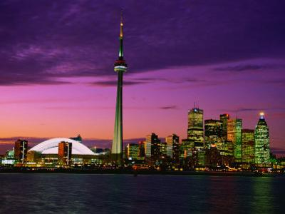 Toronto Skyline at Night, Canada by Jim Schwabel