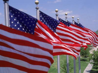US Flags at Louisiana Mem Plaza, Baton Rouge