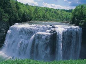 Waterfall, Letchworth State Park by Jim Schwabel