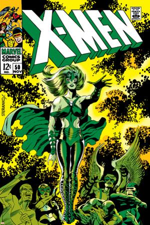 X-Men No.51 Cover: Dane, Lorna and X-Men by Jim Steranko