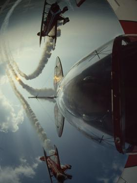 Expert Pilots Perform in Home-Built Pitts Specials at an Airshow by Jim Sugar