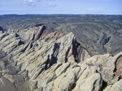 Aerial View of the San Rafael Swell, Navaho Sandstone, Emery County, Utah, USA