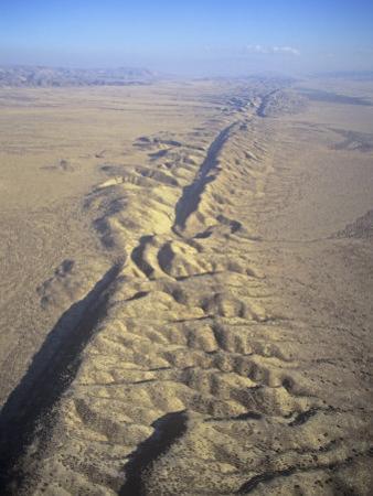 San Andreas Fault and Rift Zone, Carrizo Plain, California, USA
