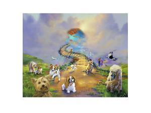 All Dogs Go To Heaven 4 Soft Sky by Jim Warren