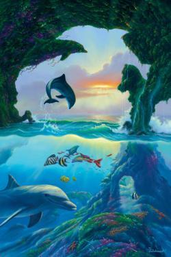 Seven Dolphins by Jim Warren