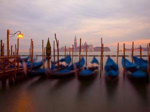 Anchored Gondolas at Twilight, Venice, Italy by Jim Zuckerman