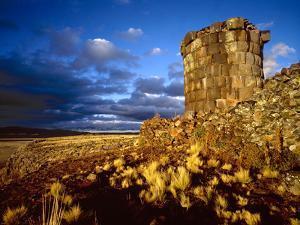Ancient Inca Tomb at Sunset, Near Lake Titicaca, Peru by Jim Zuckerman