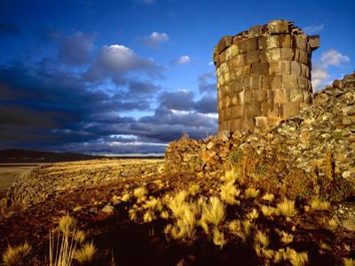 Ancient Inca Tomb at Sunset, Near Lake Titicaca, Peru by Jim Zuckerman