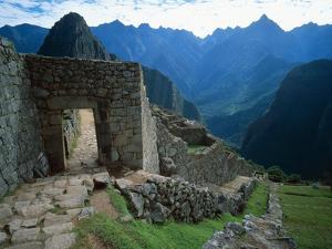 Archaeological Ruins on Machu Picchu Hillside by Jim Zuckerman