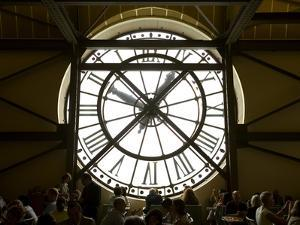 Diners Behind Famous Clocks in the Musee d'Orsay, Paris, France by Jim Zuckerman