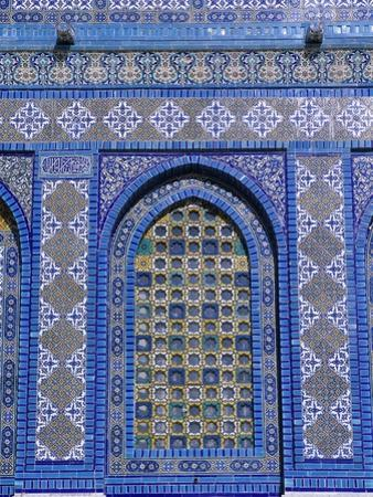 Exterior View of Window and Tilework on Dome of the Rock by Jim Zuckerman