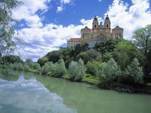 Melk Abbey and Danube by Jim Zuckerman