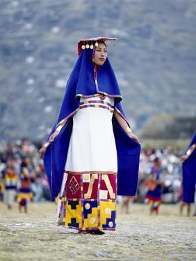 Woman in Costume for Inti Raimi Festival of the Incas, Cusco, Peru by Jim Zuckerman