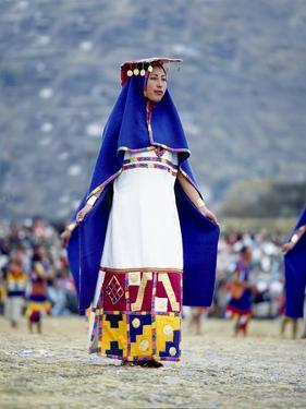Woman in Costume for Inti Raimi Festival of the Incas, Cusco, Peru by Jim Zuckerman