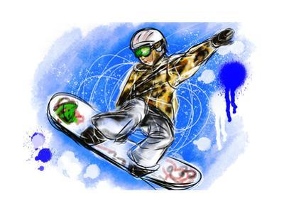 Hand Draw Snowboarding by jim80