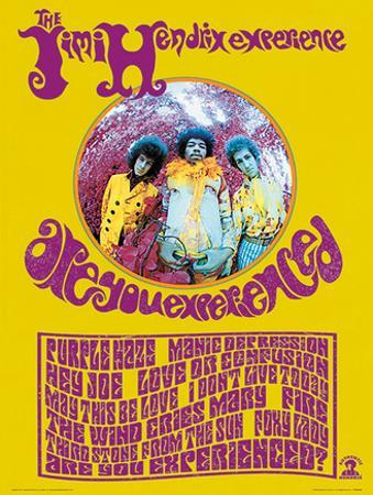 Jimi Hendrix (Are You Experienced?) Music Poster