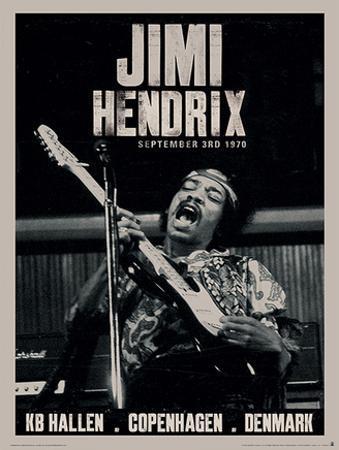 Jimi Hendrix (Copenhagen) Music Poster