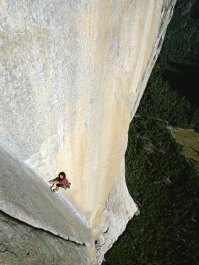 A Man Climbs El Capitan, Yosemite, California by Jimmy Chin
