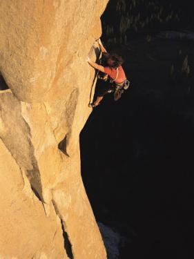 A Man Rock Climbing on El Capitan, Yosemite, California by Jimmy Chin