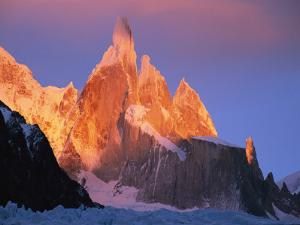 Sunrise over Patagonias Cerro Torre Massif by Jimmy Chin