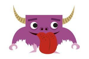 Cute Purple Monster by Jimmy Messer