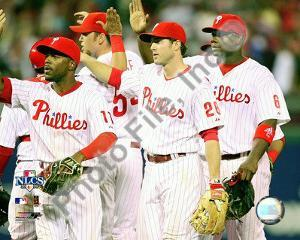 Jimmy Rollins, Chase Utley, & Ryan Howard 2008 NLCS Game 1 Celebration