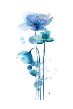 Indigo Poppy 1 by Jin Jing