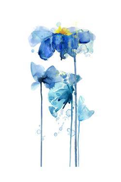 Indigo Poppy 2 by Jin Jing