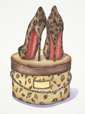 Leopard Heels by Jin Jing