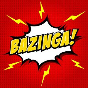 Bazinga! Comic Speech Bubble, Cartoon by jirawatp