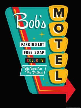 Bob's Motel in Black by JJ Brando