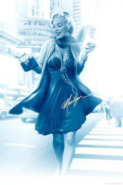 Marilyn in the City Blue by JJ Brando
