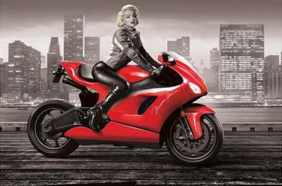 Marilyn's Motorcycle by JJ Brando
