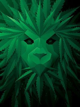 Rasta Lion Illusion by JJ Brando