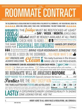 Roommate Contract by JJ Brando