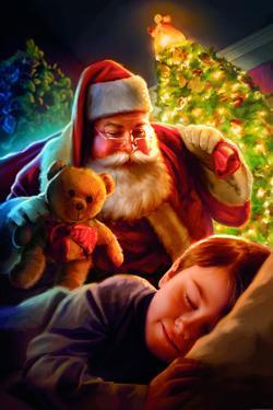 Santa Teddy Bear by JJ Brando