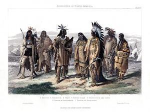 Aborigines of North America, 1873 by JJ Crew