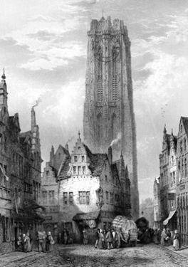 Malines (Mechele) Cathedral, Antwerp, Belgium, 19th Century by JJ Crew