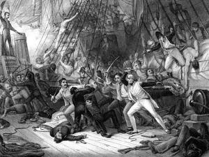 Nelson Boarding the 'San Josef, Battle of Cape St Vincent, 1797 by JJ Crew