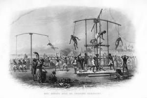 The Churuk Puja or Swinging Ceremony, India, 19th Century by JJ Crew