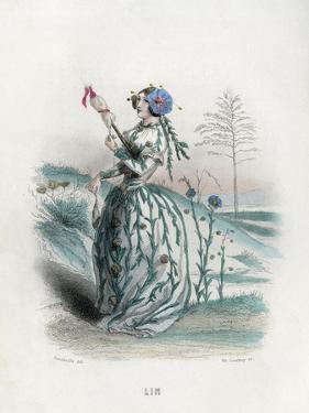 Grandville Flax 1847 by JJ Grandville