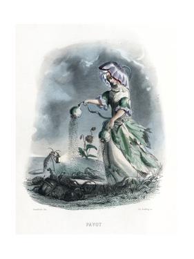 Grandville Poppy 1847 by JJ Grandville