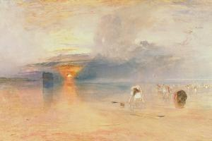Calais Sands at Low Water, Poissards Gathering Bait, 1830 by JMW Turner