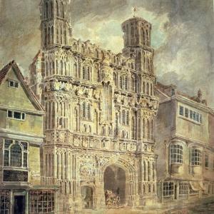 Christchurch Gate, Canterbury, C.1792-93 by JMW Turner