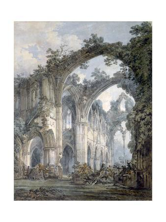 'Inside of Tintern Abbey, Monmouthshire', c1794